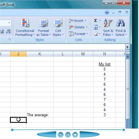 how to find the average on excel