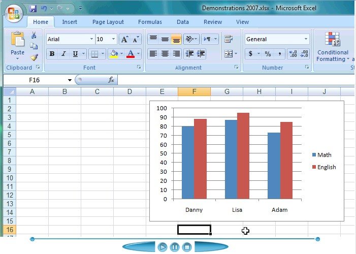 Adding data lables to see the value of the bars in an excel chart adding data labels to your chart ccuart Gallery