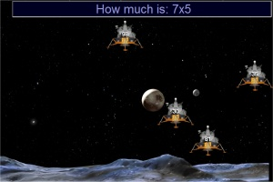 Multiplication game - apollo moon landers