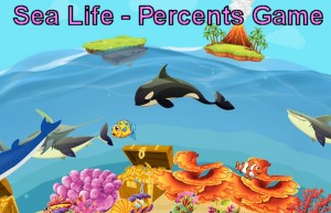 Sea Life - A Matching Percentage Game for 6th graders