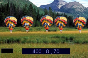 Play a Free Game of Place Value - Mountains hot air balloons