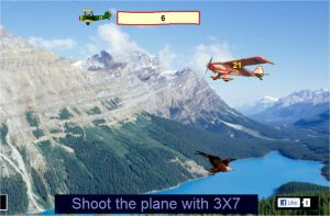 Multiplication game - Eagle and Airplanes