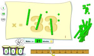 Base Ten Blocks Place Value Game