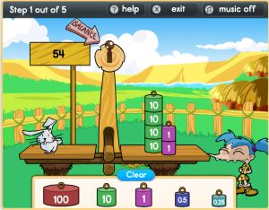 Jungle place value base ten blocks game
