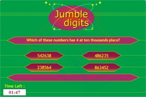 Jumble Digits Place Value Game