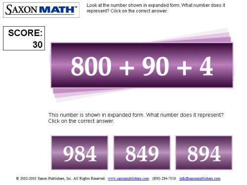 Expanded Form Game Online - 3 Digits Practice
