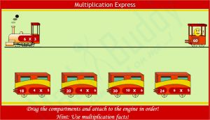 Express Train Multiplication Times Tables Game