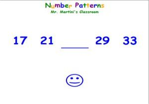 Number Patterns Sequences - My Patterns - Free Pattern Cross