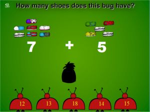 Bug Shoes Addition Game