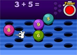 Addition Math Popper Game