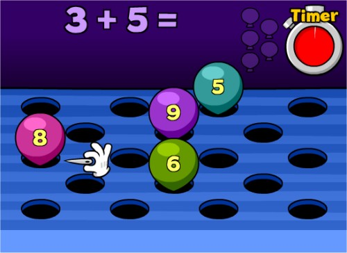 math worksheet : play math popper to improve your addition skills : Kindergarten Math Games Online Free