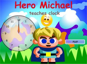 Teaching Telling Time Hero Michael