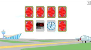 Telling Time Game For Kids (Airport)