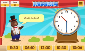 Interactive Telling Time Game Exercies for 2nd Grade