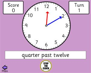 Second Grade Telling Time Game - Bang On Time