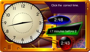 Grade 4 Online Telling Time Game - Words and Digits