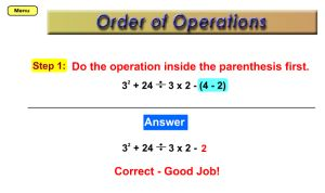 Order of Operations Online Game - Tutorial & Practice