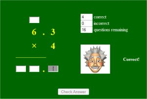 Decimal Multiplication Game - Decimultiplication