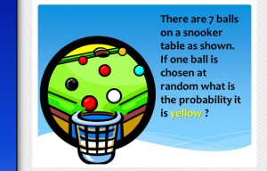 Probability Illustrated test questions - fractions