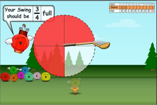 Online Fraction Games for 3rd Grade - Jelly Golf, Fishy Fractions ...
