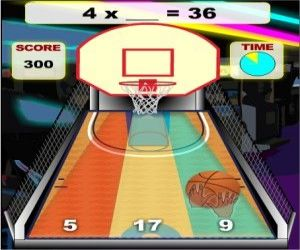 Multiplication Math Basketball Game