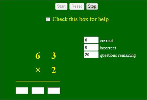 math worksheet : long multiplication game interactive worksheet  2 digits by 1  : Multiplication Online Worksheets