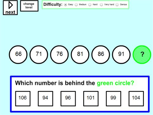Sequences and Patterns in Math Online Worksheets – Math Worksheets Patterns and Sequences