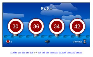 Target Shooting Multiplication Game