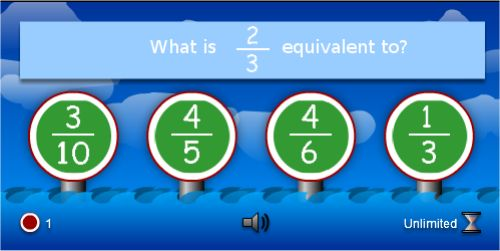 Interactive Equivalent Fractions Games and Activities