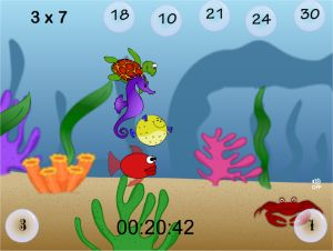 Aquatic Speedway Multiplication Game