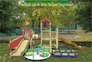 comparing numbers playground game