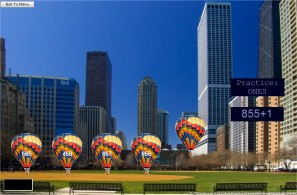 Free Place Value Game - City Hot Air Balloons