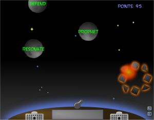 Typing Astroids - Fun Touch typing Game