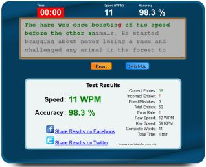 Typing Test For Kids - Free Online Keyboarding Speed Test WPM
