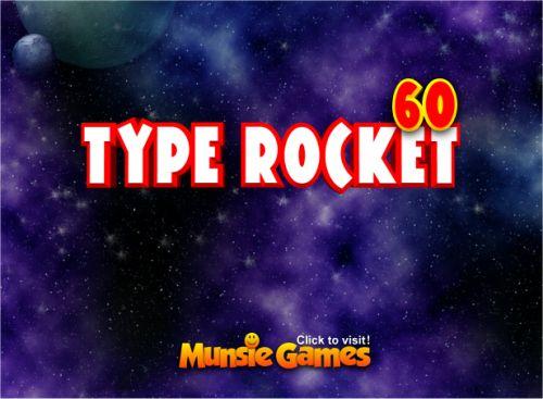 Free Online Keyboard Typing Game - Type Rocket 60