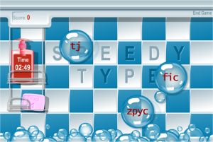 Fun Speed Typing Game for Kids - Bubble Popping