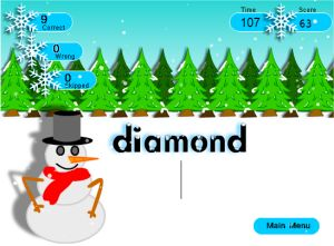 Free Typing Practice Game - Snow Typer