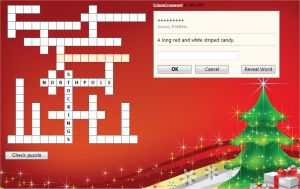 Christmas Crossword Puzzle For Kids Online Free Easy Grades 3 And 4