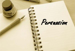 What is the goal of a persuasive essay